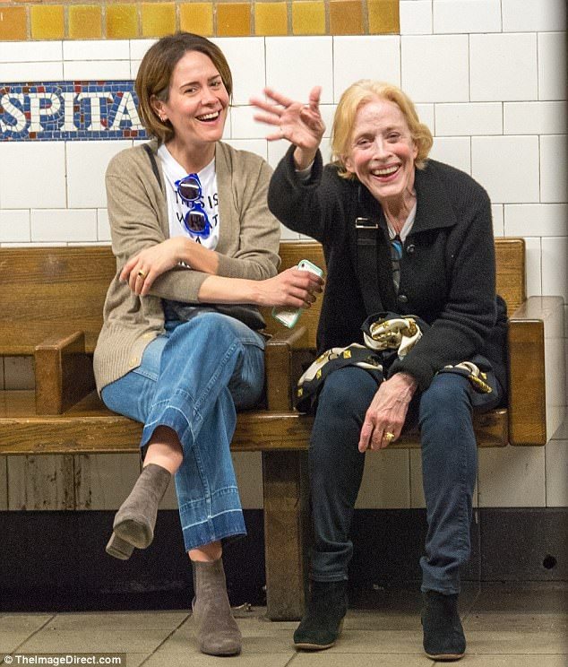 Hello! Sarah Paulson and her girlfriend Holland Taylor were spotted riding the New York subway before Monday night's glamorous Met Gala festivities
