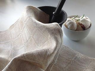 liljen design - håndvævede tekstiler: Køkkenhåndklæder i klassisk drejl - og med variati...