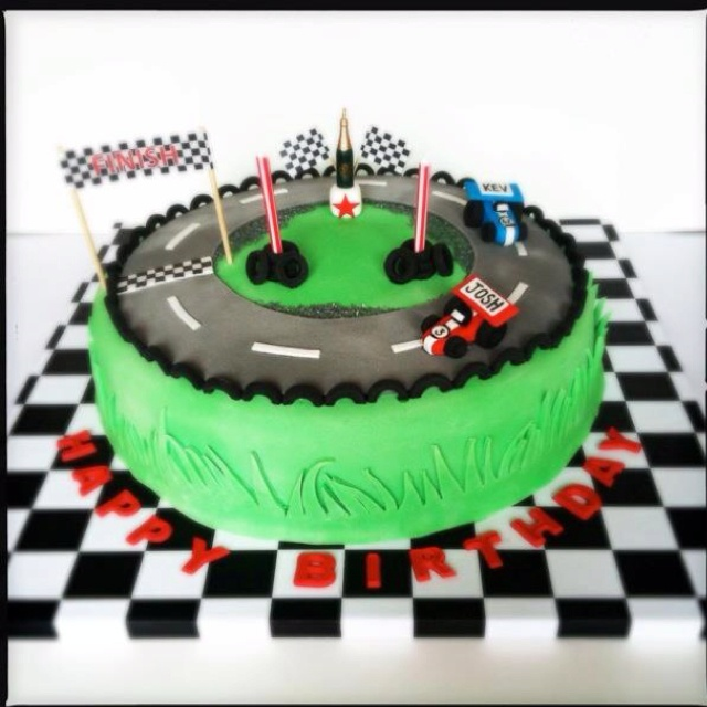 Birthday Cake Photos Racing Car : Boys racing car cake by The Snowdrop Bakery Cole s 1st ...