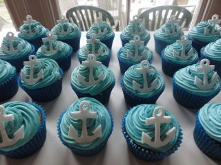 Best 25 anchor cupcakes ideas on pinterest baby shower for Anchor decoration runescape