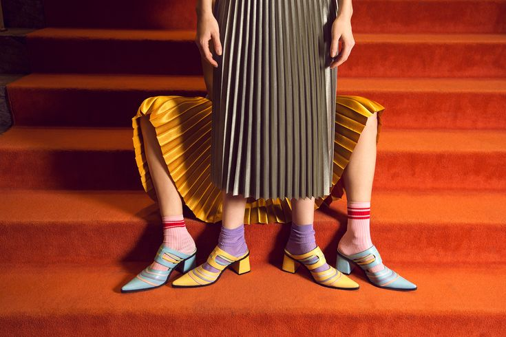 Jessica Kessel Shoes on Behance Dress Up, Shirt Dress, Pleated Skirt, Fashion Art, Flannel, Fashion Photography, Capri Pants, Unisex, Shoes