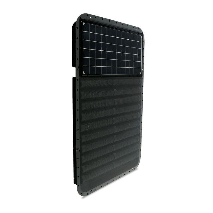 The Sun 800 BTU Wall Mounted Solar Forced Air Panel Heater