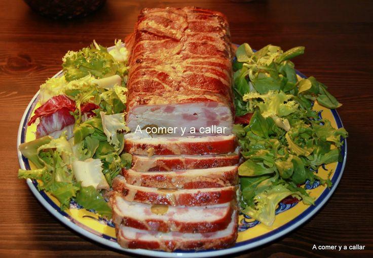 A comer y a callar: FIAMBRE DE POLLO Y BACON AL HORNO, PASO A PASO