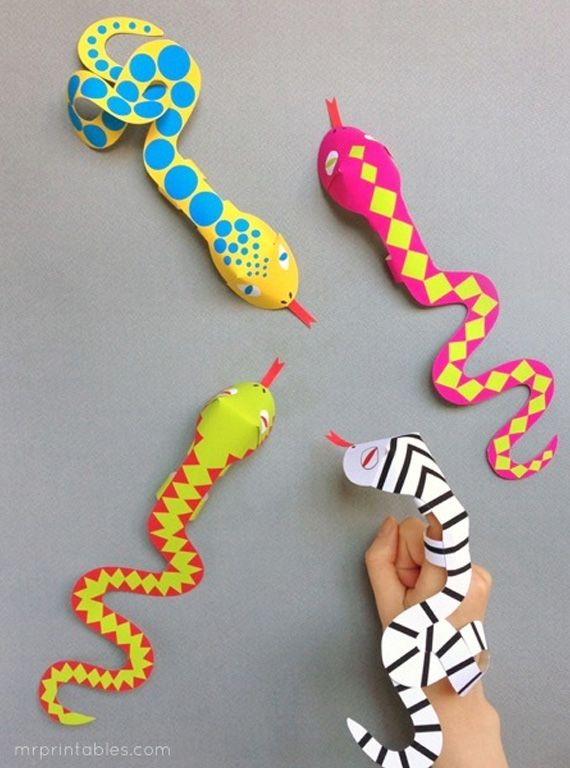 Finger puppet snakes in Templates and design patterns for personal crafts