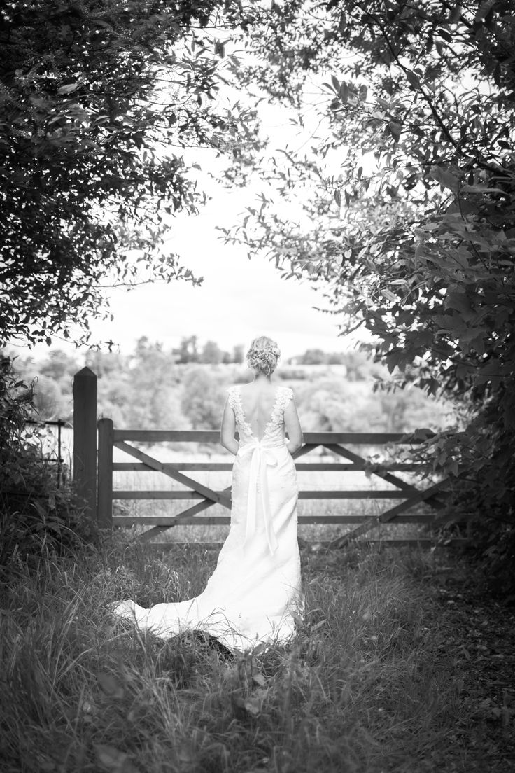 Orchardleigh House, Near Bath/Bristol A dramatic portrait of the bride in her stunning wedding dress.  www.jacobmccarthy.co.uk www.facebook.com/jacobmccarthyphotography