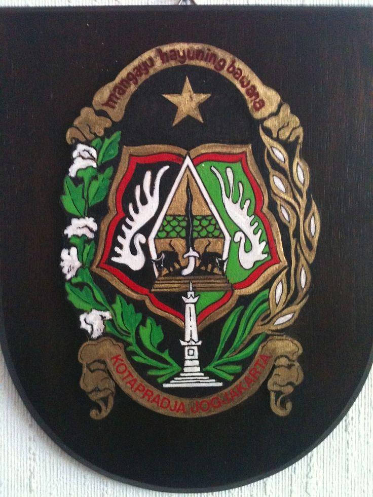 Embleem van de stad Jogjakarta te Java