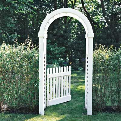 A well-placed arbor is your garden's ultimate multitasker: It can serve as an entryway to an outdoor spot; or frame a focal point, like a flowering shrub or garden shed. #summerprojects #DIY