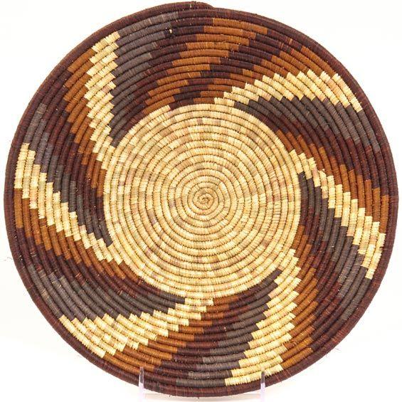 "Uganda Baskets - Rwenzori Bowl<br>12"" Across<br>32296"