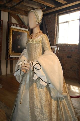 A re-creation of a Tudor gown ala Queen Catherine Howard, fifth wife of Henry VIII, for display at Gainsborough Old Hall, to commemorate Henry and Catherine's visit made as part of Henry's Northern Progress in 1541.