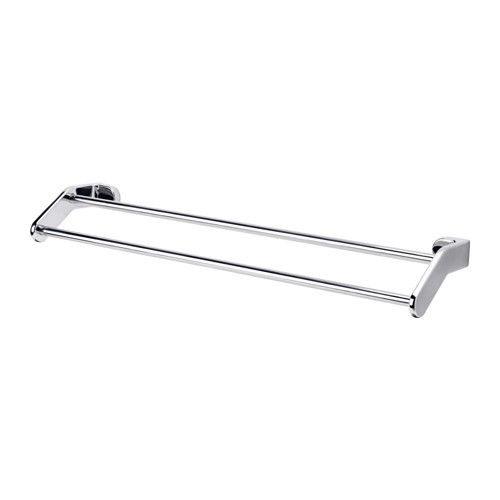 KALKGRUND Towel rail IKEA No visible screws, as the hardware is concealed. The chrome finish is durable and resistant to corrosion.