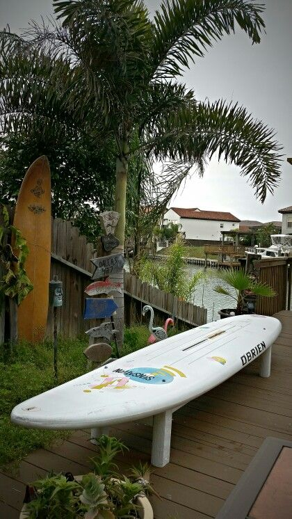 A Wind Surfboard Upcycled As A Bench Seat Reduce Reuse