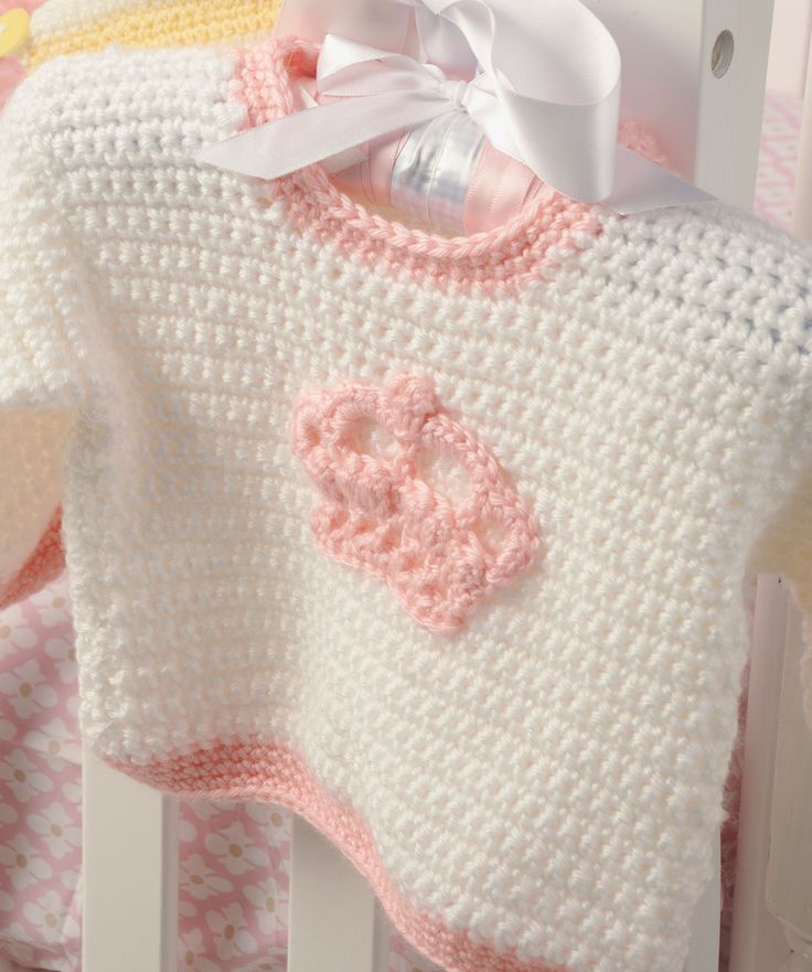 Häkeln Sie einen Pullover, der so besonders wie Ihr kleines Mädchen ist. In der Anleitung sind verschiedene Größen beschrieben, damit Sie die Krone auf den Pullover mit der nächsten Größe übertragen...