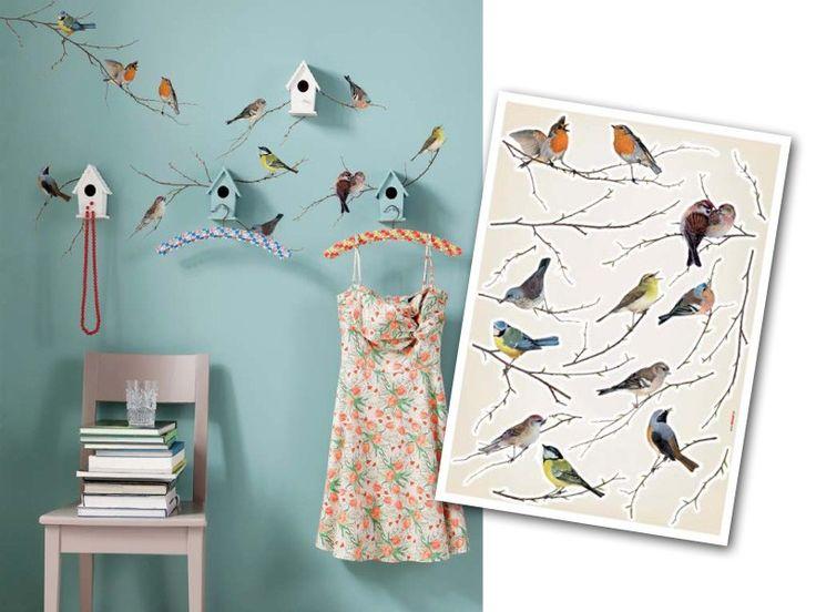 """Наклейки на стену """"Птицы"""". Komar 19005 Vogerl"""