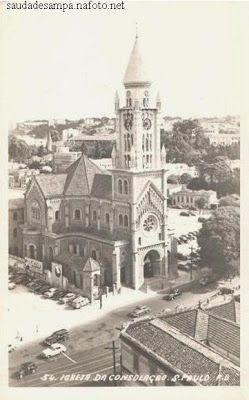 Igreja da Consolação – 1950 / O DIÁRIO DO FREEWAY - MY AUAU DIARY: PRAÇA ROOSEVELT – UMA PRAÇA DE CIMENTO!