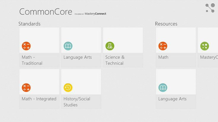 Common Core Standards // A great reference for students, parents, and teachers. Quickly find standards by subject, grade, and subject category (domain/cluster). This app includes Math standards K-12 and Language Arts standards K-12. Math standards include both traditional and integrated pathways (as outlined in Appendix A of the Common Core) and synthesizes Language Arts standards with the Corresponding College and Career Readiness Standards (CCR's).