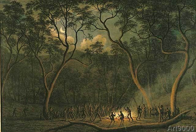 John Glover - Aboriginal Coroboree in Van Diemen's Land                                                                                                                                                      More
