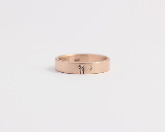 Stieg gold Verlobungsring oder Diamant Hochzeit Band Rose Gold und konfliktfreie Diamanten 4mm 14 k Rose Gold