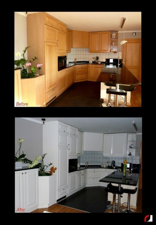 Houten Keuken Verven : 17 Best images about Keuken Keukenkastjes