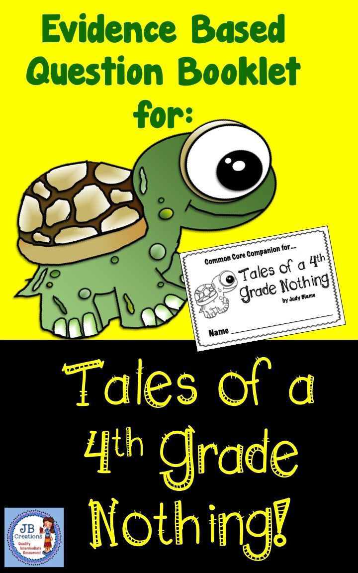 Provide students with this rich, text dependent comprehension booklet to accompany the novel, Tales of a 4th Grade Nothing.  Modeled after the common core Language Arts standards, this booklet contains 10 pages of higher level thinking questions.   https://www.teacherspayteachers.com/Product/Tales-of-a-4th-Grade-Nothing-Common-Core-Companion-student-question-booklet-3360019