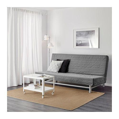 BEDDINGE LÖVÅS Sofa trzyosobowa rozkładana - Knisa jasnoszary - IKEA
