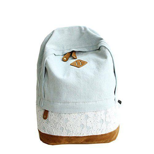 Casual School Travel Shoulder Backpack Lace Denim Women Canvas Backpack Schoolbag Student School Bag Travel Backpack Rucksack for Teen Girls (Dark Blue), http://www.amazon.com/dp/B013LLPVUS/ref=cm_sw_r_pi_n_awdm_fYLKxbFF83MDF
