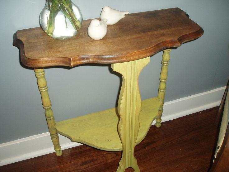 Yellow Half Moon Table