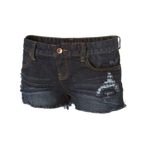 Billabong - Billabong Girls Shorts - Lovvah (110 BRL) ❤ liked on Polyvore featuring shorts, pants, billabong, billabong shorts, swim shorts, ripped shorts and destroyed shorts