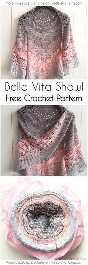 Fácil e aconchegante padrões de xaile de crochê que você deve tentar em 2018!