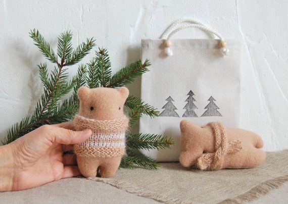 Stuffed Toy Bear Christmas gifts Plush doll Kids by IrinaMargarita