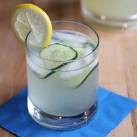 Get the recipe for Alton Brown's Cucumber Lemonade Gin Punch, perfect for warm weather, Memorial Day, July 4th and Labor Day weekends!