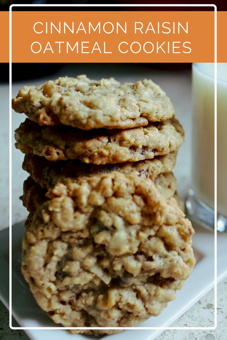 Cinnamon Raisin Oatmeal Cookies...great for freezing and for when the baby comes!  Gonna make some for my hospital bag and post-baby snacks!