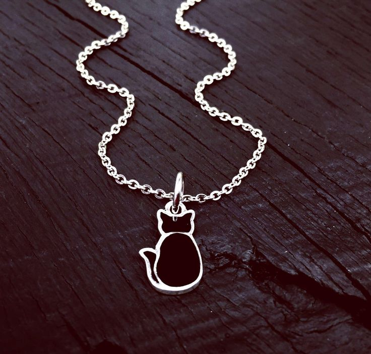 Black Cat Charm Necklace | Black Cat Jewelry | Jewelry Gift For Black Cat Lover | Cat Rescue | Cat Foster | Cat Transport And Adoption Gift by SecretHillStudio on Etsy https://www.etsy.com/listing/518720849/black-cat-charm-necklace-black-cat