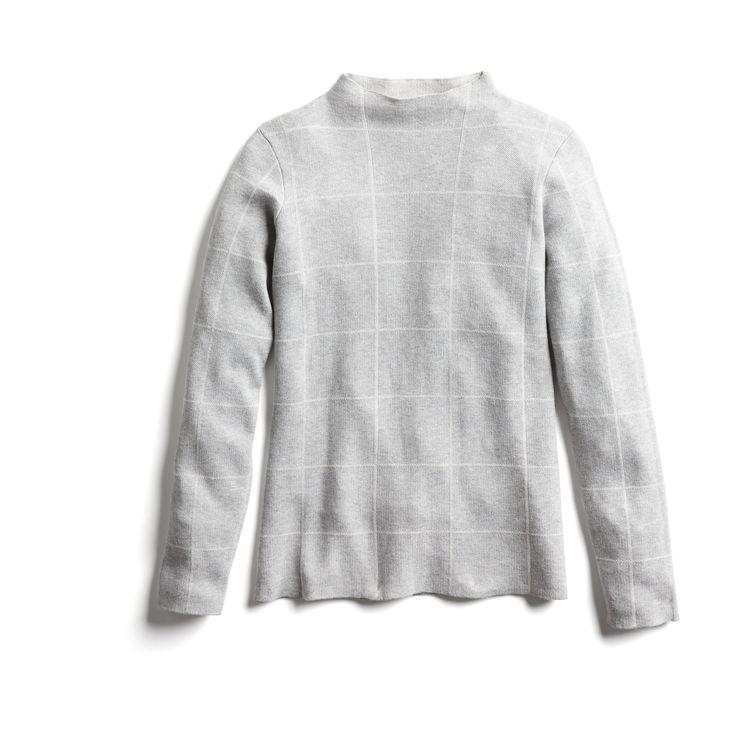 Stitch Fix Fall Stylist Picks: Grid Print Mockneck Knit