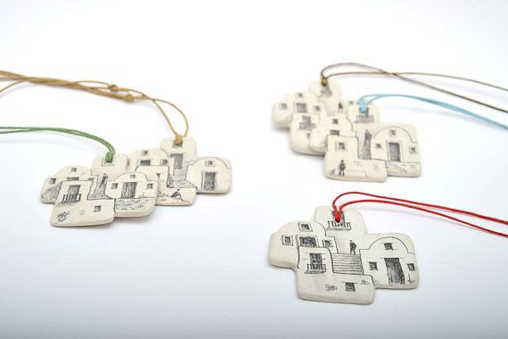 House necklaceArt and architectureSantorini by 2eggsProject