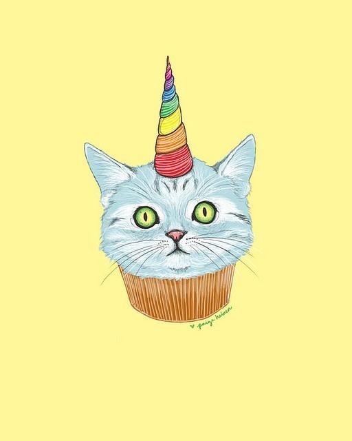 birthday cat birthday hat cupcake rainbow birthday