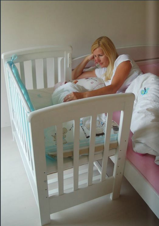 "Treppy® Dreamy MINI White. Cot bed Dreamy MINI or ""smart bed"" can be used in its freestanding or bedside mode. If you would like to be near your baby all night, just lower the dropside and slide it underneath the cot in one easy action. You can keep the cot at your bedside so you won't need to get up to comfort your baby or if you are breast feeding. It has 5 base positions and a safety teething rail. https://www.facebook.com/pages/Treppy-Australia-Pty-Ltd/742646392463153"