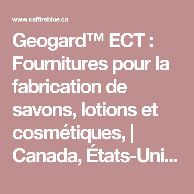 Geogard™ ECT : Fournitures pour la fabrication de savons, lotions et cosmétiques, | Canada, États-Unis - Saffire Blue