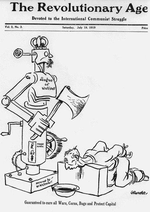 La anología con la telefonía inteligente es mera coincidencia. William Gropper (1919).