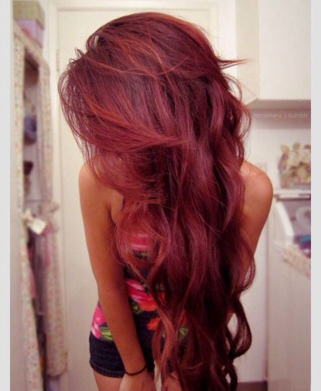 Cherry Coke Red. Love This Hair Color