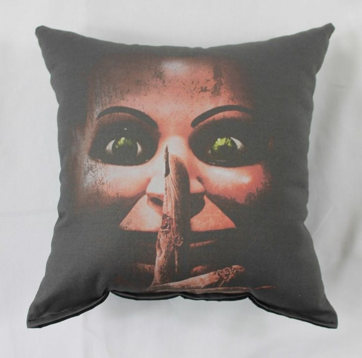 Dead Silence Throw Pillow for sale by Horror Decor at MoreThanHorror.com