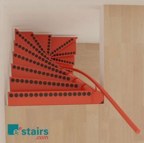 """""""EeStairs have developed the 1m2 ® staircase;a functional, stylish and safe solution designed to fit into openings of just 1m x 1m. EeStairs hold the patent to this unique space saving staircase and there is a license available to our business partners."""""""