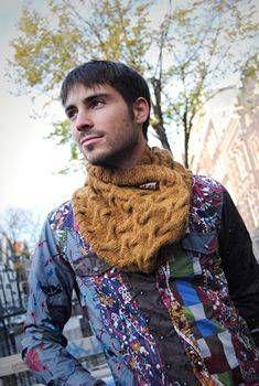 Cuello de lana para hombre