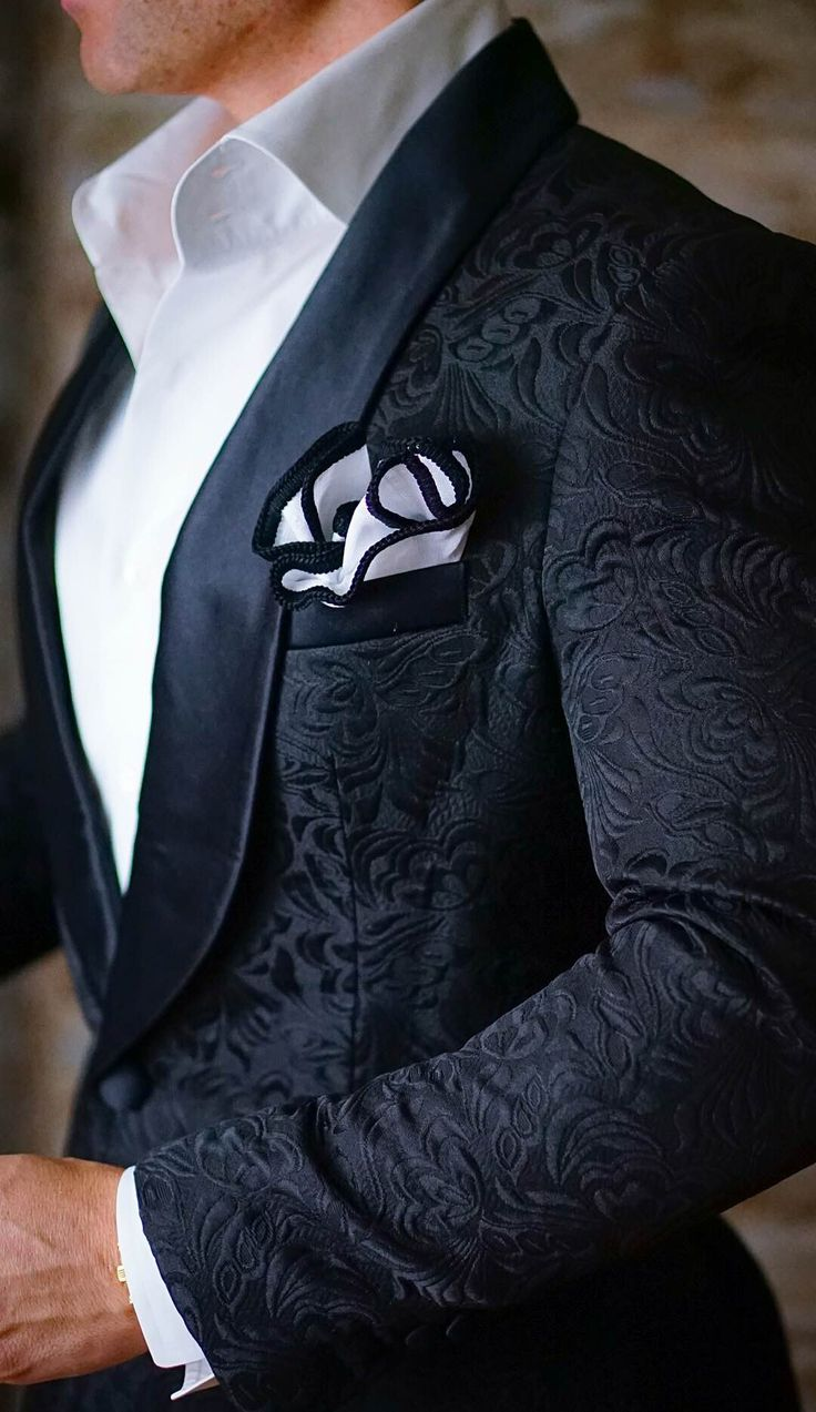 S by Sebastian Dinner Jacket Black Paisley