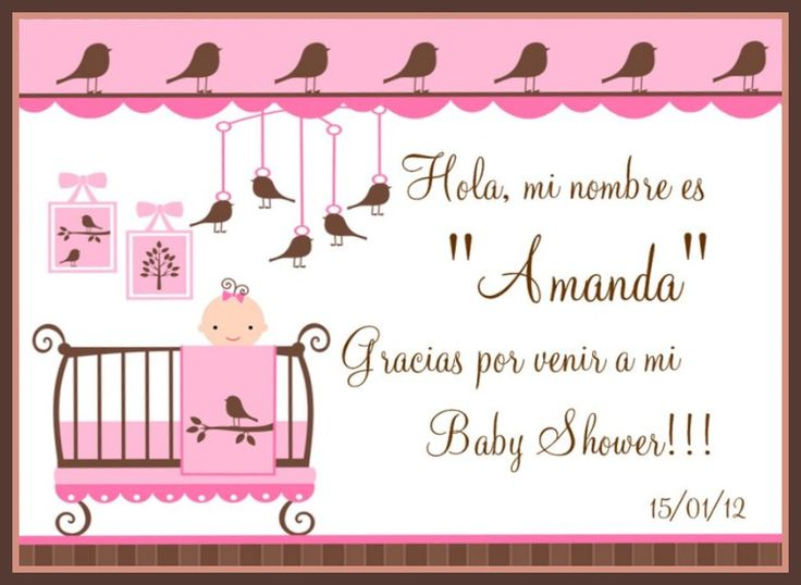 Baby Shower Agradecimientos Baby Shower Decoration Ideas