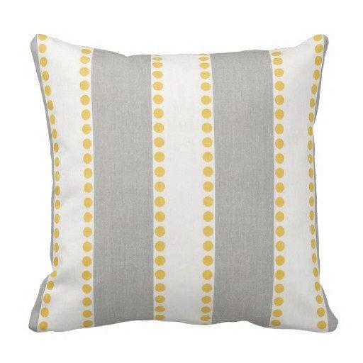 Grey Yellow Pillows,Pillow Covers, Couch Pillows, Decorative pillows,Striped Pillows,Neutral Pillows, Throw Pillows, Pillow Sets, Euro Shams