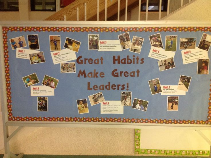 Bulletin board display leader in me pinterest for 7 habits decorations