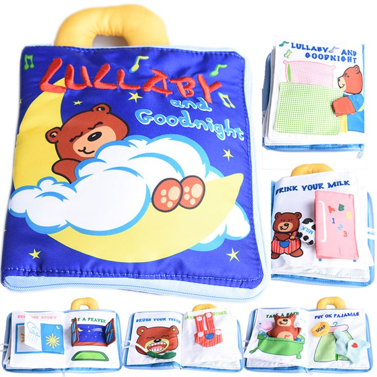 Bear Soft Cloth Baby Learning&Education Book Finger Puppets Fabric Infant Baby Early Education Cloth Books toys Creative Gift