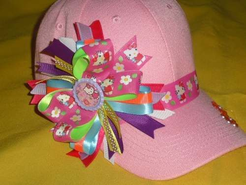 17 best images about gorras decoradas on pinterest nyc manualidades and ps - Manualidades con lazos ...
