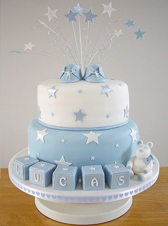 Cute cake for a baby shower or welcome party.