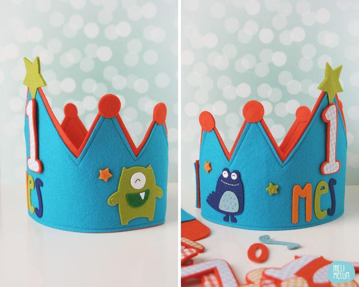 Custom Birthday felt crowns // by Melimelum